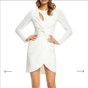 NWT Dress The Population faux wrap sheath dress